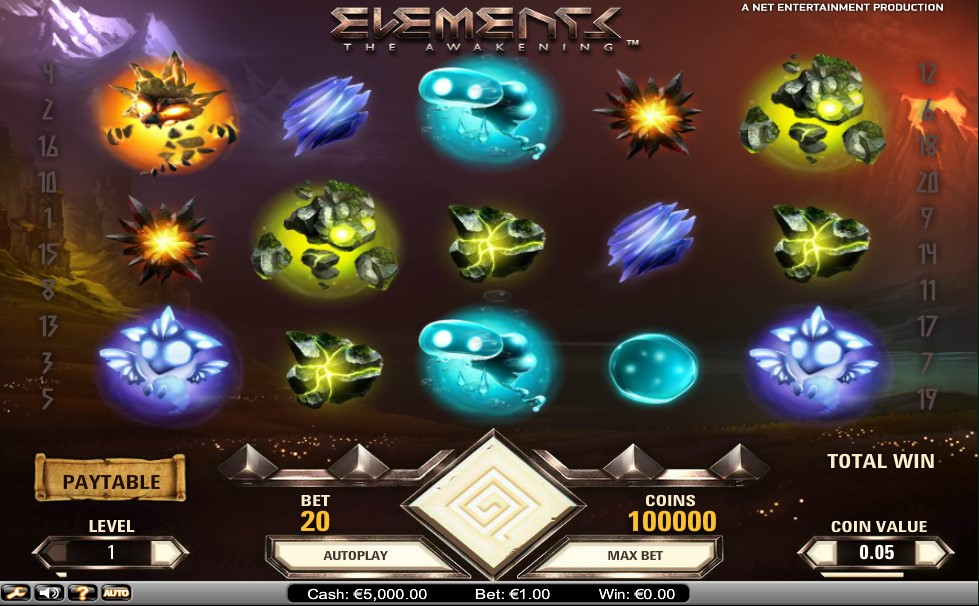 Elements The Awakening Pokie Review