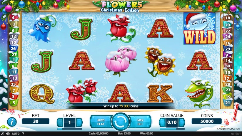 Flowers Christmas Edition Pokie Review